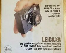 Leica Leitz Wetzlar Cl Camera Sales Manual Instruction User's Guide Original