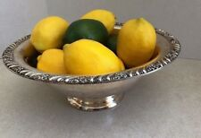 Faux Large Lemons & Limes In Silver Bowl Staging Home Decor ~ Free Shipping
