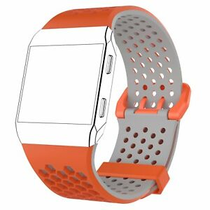 Silicone Wriststrap Bracelet Band Strap for Fitbit Ionic Watchband Double Color