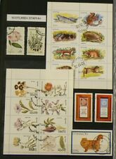 Scotland Staffa Lot of 53 Cancelled Stamps and Sheets #6878