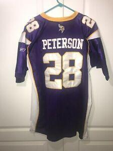 Adrian Peterson Reebok Authentic NFL Jersey Vikings Purple size 54 New