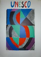 Delaunay Sonia affiche en lithographie Mourlot Imprimeur art abstrait abstract