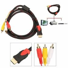 HDMI to 3 RCA Phono Red White Yellow Cable AV Audio Video Lead Universal 1.5M US