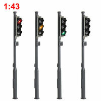 5P 1:300 Scale Model Trains Metal Light Poles Wired LED Lighted Street Lamp LH-2
