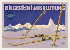 Vintage Ski Posters BILGERI-SKI-AUSRUSTUNG, Germany, 1910, 250gsm Travel Print
