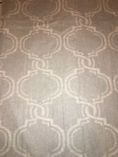 Pottery Barn Gray Trellis Linen Blend Panels Curtains Lined Set Of 2 50x108 Read