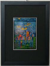 Bild,Friedensreich Hundertwasser,gerahmt ,Gelbe Schiffe
