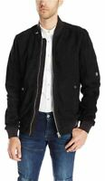 G-Star Raw Mens Suede Bomber Black Mens UK M *Ref72