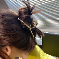 Women Girls Geometric Hair Claw Clips Hair Crab Moon Shape Hair Clip Claw