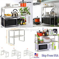 Kitchen Baker's Rack Microwave Oven Stand Storage Workstation Shelf Utility