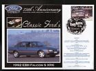 2000 FORD 75th ANNIV COV, 1992 EB II FALCON S XR6