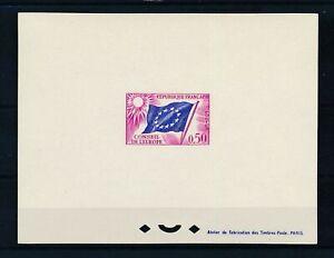 [39843] France Official European idea Good Deluxe PROOF sheet Very Fine Mint