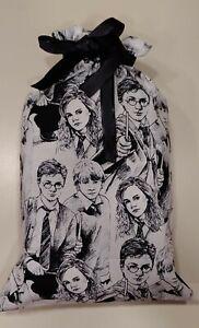 "Fabric Gift Bag Harry Potter Print 16.5"" x 10.5"" Handmade Eco Friendly NEW"