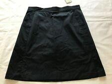 """Women's Callaway Golf NAVY Blue 18"""" Skort skirt CW65172 Pockets Side Slit Cotton"""