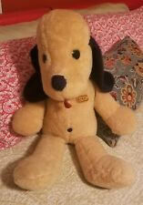 "HTF Vtg 1970s Large 29"" Animal Fair HENRY Dog Plush Toy w/ Name Tag NearMint!"