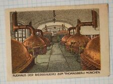 Sudhaus beer brewery copper still Thomasbräu Munich Germany ad poster stamp