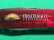 Clear Red Victorinox Spartan Swiss Army Knife FIRST FLIGHT CENTENNIAL