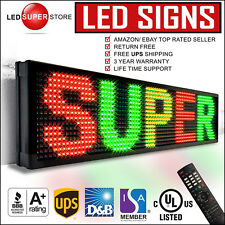 """LED SUPER STORE: 3COL/RGY/IR 12""""x31"""" Programmable Scrolling EMC Display MSG Sign"""