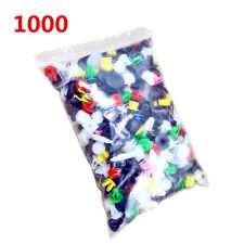 1000Pcs/Set Car Cable Mount Clamp Clips Plastic Auto Fastener Car-Styling Mixed