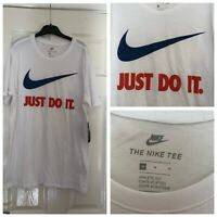 NEW MENS AUTHENTIC NIKE JUST DO IT T-SHIRT SIZE M TOP WHITE SPOR