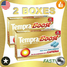 Tempra Boost with Paracetamol and Caffeine, 2 Boxes - 12 Tablets Each