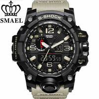REGNO Unito Da Uomo smael Tactical Dual Display SHOCK Digital Sports Divers