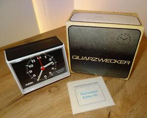 Nagelneuer Großer DDR Quarz-Uhr Wecker Kaliber 62 in orig. Verpackung VEB Ruhla