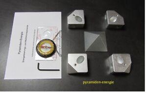 Rohr - Pyramide Verbinderset 16mm  Aluminium, Energie Cheops  energy pyramid