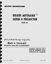 Bell & Howell 483 Autoload Super 8 Movie Projector Service Repair Manual Reprint