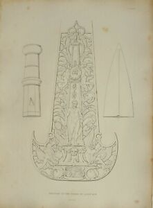 1830 ANTIQUE ARMS & ARMOUR PRINT PARTISAN OF THE GUARD OF LOUIS XIV