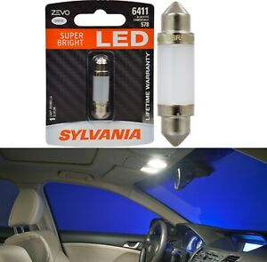 Sylvania ZEVO LED Light 6411 White 6000K One Bulb Interior Map Replacement Fit