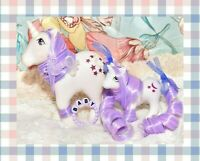 ❤️My Little Pony MLP G1 Vtg MOMMY & BABY Moondancer Unicorn OOAK Moon Star Set❤️