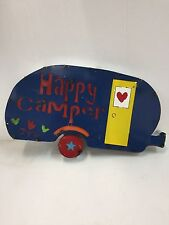 NEW HAPPY CAMPER recycled metal sign-lake-beach-travel