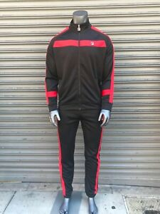 Men's Fila Black | Red Signature Tracksuit