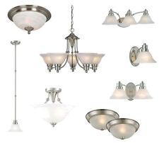 Satin Nickel Ceiling Lights, Bathroom Vanity,& Chandelier Lighting Fixtures
