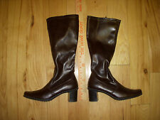 EUC Womens Predictions Chunky Heel Brown Boots 7 M Made in Indonesia