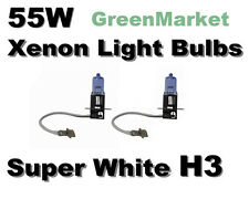 Saab 03-07 9-3/87-98 900/97-98 9000 Fog Light H3 Xenon 55w Super White Bulbs-