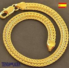 pulsera mujer trenzada 20 cm largo oro amarillo 18k gf desde España