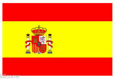 SPAIN FLAG 5FT X 3FT (with crest)