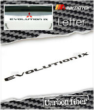 Dry Carbon Fibre Trunk Lid Rear Overlay Emblem for Mitsubishi Evolution IX EVO 9