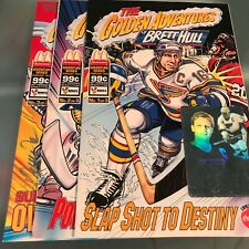 3-Issue Set! Golden Adventures of Brett Hull Comics • #3 Autographed by Creators