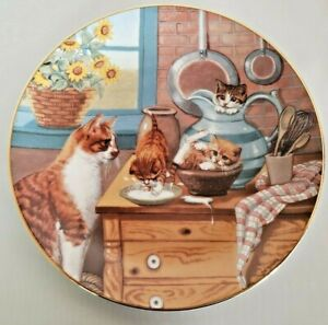 """Cat Kitty Collector Plate """"Table Manners"""" Country Kitties Artist Gre Gerardi"""