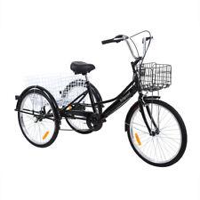 24 Zoll 3-Rad-Dreirad für Erwachsene 7 Geschwindigkeit-Fahrrad Trike Cruise+Korb