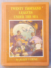 Vintage TWENTY THOUSAND LEAGUES UNDER THE SEA Jules Verne AYLWARD Illustrated