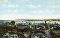 Portland Maine & Harbor South East from City Hall Unposted Vintage Postcard