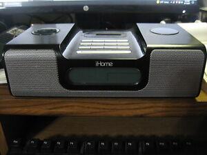 iHome (iH8) Black Ipod Speaker Dock Dual Alarm Clock Radio