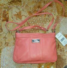 9 Nine West Coral Pebbled Leather like Handbag SwingPack cross body NWT