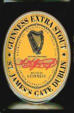 Lamiera SCUDO Guinness Beer Black Label Logo arpa di birra pubblicità scudo nostalgi
