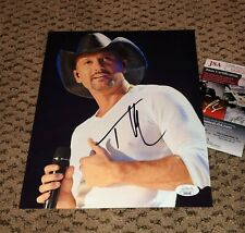TIM MCGRAW SIGNED 8X10 PHOTO AUTOGRAPH JSA AUTH COA COUNTRY MUSIC FAITH HILL