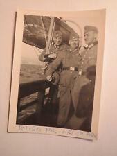 Polizei Feld / Kreith FrRv - 3 Soldaten in Uniform auf einem Schiff / Foto 1938